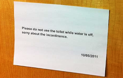 Sorry About The Incontinence