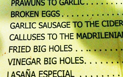 Mmh I Think I ll Have 2 Plates of Big Holes  Madrid